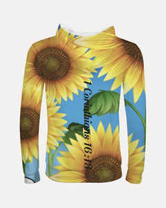 Cloth - Kids Hoodie - Joy Sunflower -  1 Corinthians 16:13