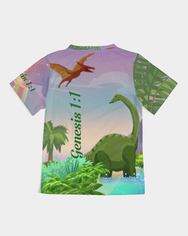Cloth - Kids T-Shirt - Joseph And Dinosaurs - Genesis 1:1