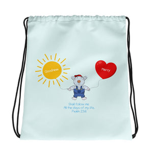 Drawstring Bag - Drawstring Bag - Goodness & Mercy - Joseph - Psalm 23:6