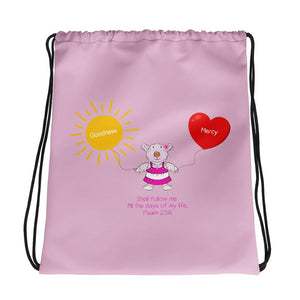Drawstring Bag - Drawstring Bag -  Goodness & Mercy - Joy - Psalm 23:6