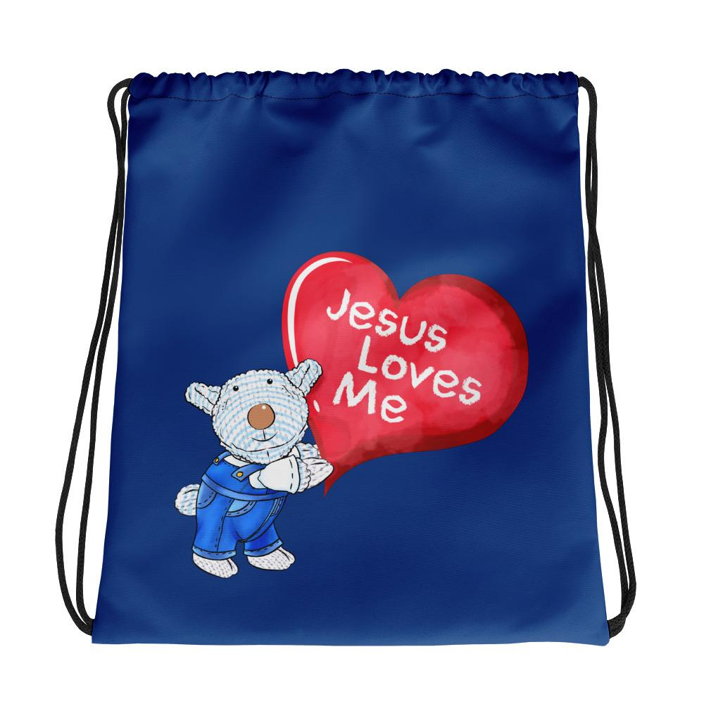 Drawstring Bag - Drawstring Bag - Jesus Loves Me - Joseph