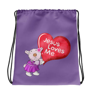 Drawstring Bag - Drawstring Bag - Jesus Loves Me - Joy
