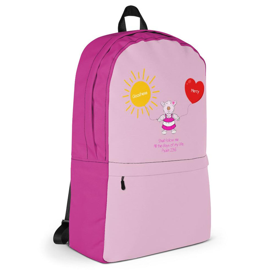 Girls Accessories - Backpack - Joy Goodness & Mercy - Psalm 23:6