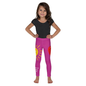 Girls Leggings - Girls Leggings - Joy Goodness & Mercy - Psalm 23:6