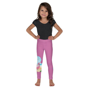 Girls Leggings - Girls's Leggings - Joy Flamingo Beach - Philippians 4:1