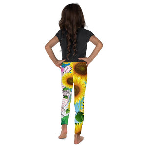 Girls Leggings - Joy Sunflower - 1 Corinthians 16:13