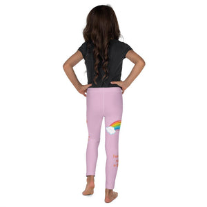 Girls Leggings - Pink - Girls Leggings - Joy & Joseph Rainbow - Genesis 9:13