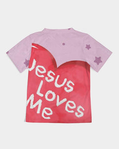 Girls T-shirts - Girls Hoodie - Jesus Loves Me - Joy
