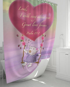 "Home Goods - Great Love Shower Curtain 72""x72"""