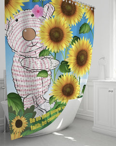 "Home Goods - Joy Sunflower Shower Curtain 72""x72"""