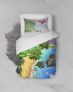 Home Goods - Twin Duvet Cover Set - Joseph And Dinosaurs - Genesis 1:1