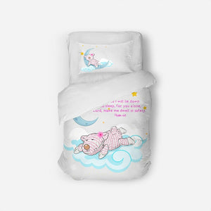 Home Goods - Twin Duvet Cover Set - Sleep Joy - Psalm 4:8
