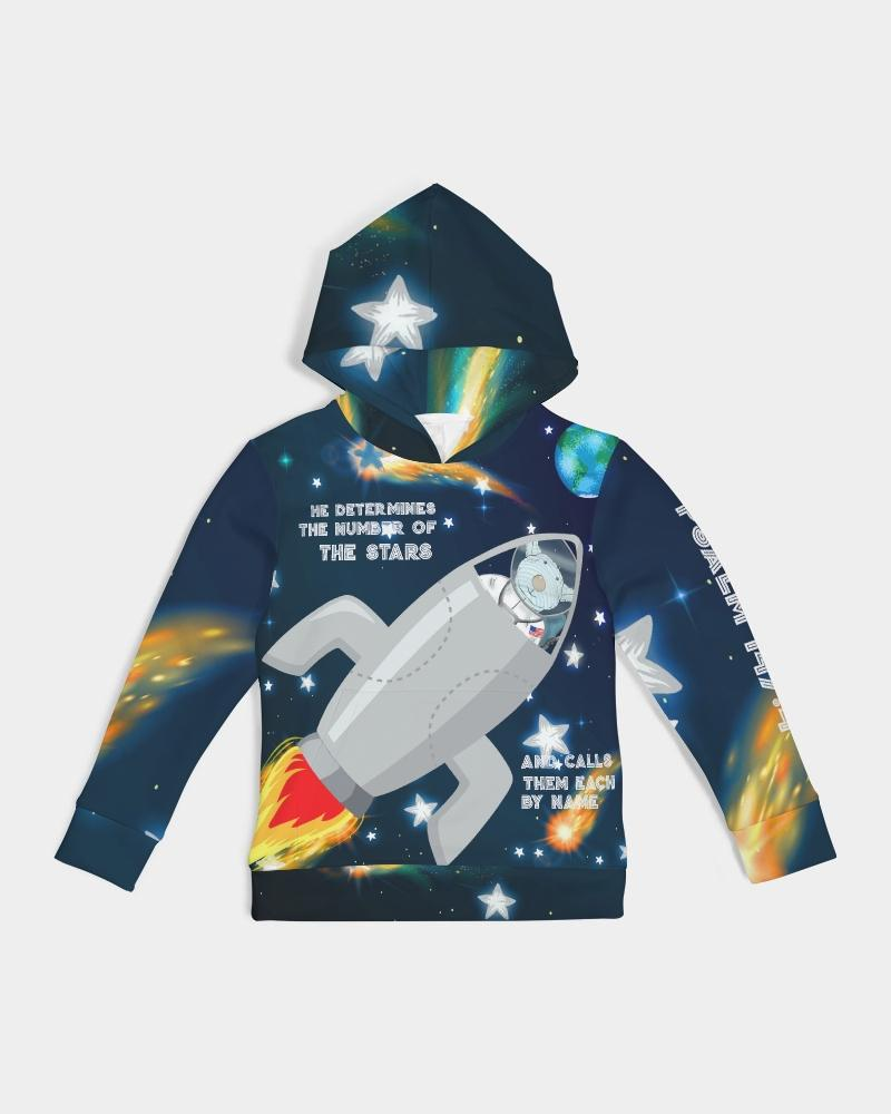 Kids Hoodie - Kids Hoodie - Spaceship Joseph - The Stars - Psalm 147:4