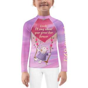 Kids Rash Guard Great Love Psalm 89:1