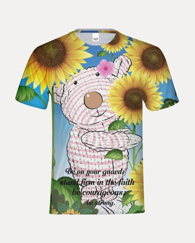 Kids T-Shirt - Kids T- Shirt - Joy Sunflower - 1 Corinthians 16:13