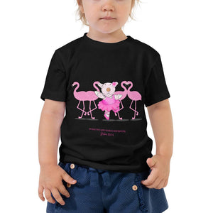 Kids T-Shirt - Toddler T-Shirt - Joy Ballerina Flamingos - Psalm 150:4