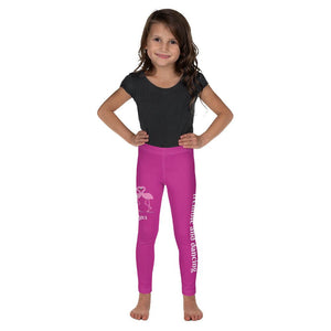 Legging - Girls's Leggings - Joy Ballerina Flamingos - Psalm 150:4