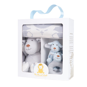 New Born Gift Set - Christian Baby Knitted Gift Set Boy