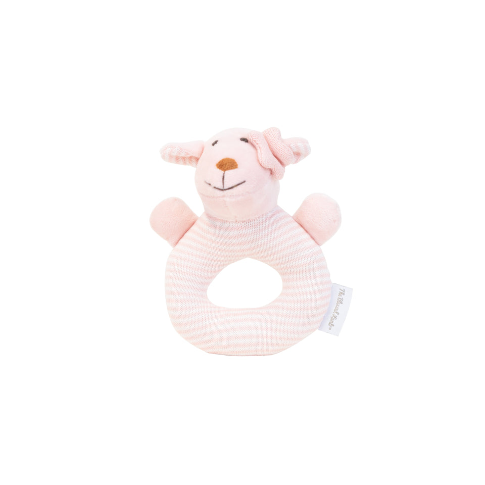 New Born Gift Set - Knitted Baby Rattle - Joy Pink