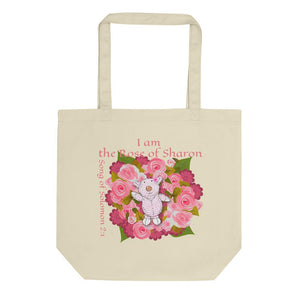 Organic Tote Bag - Small Organic Bag - Joy Roses - Song Of Solomon 2:1