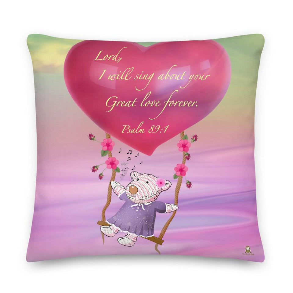 Pillow - Joy - Great Love - Psalm 89:1