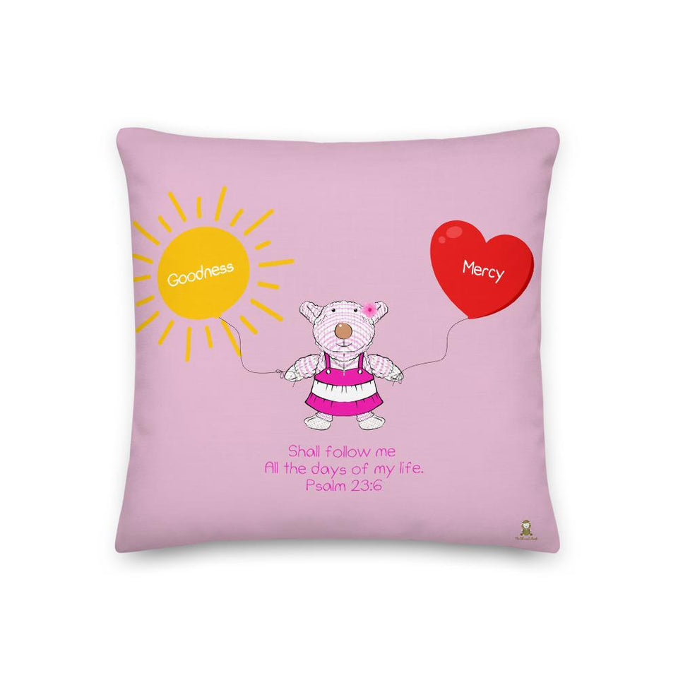 Pillow - Pillow - Goodness & Mercy - Joy - Psalm 23:6