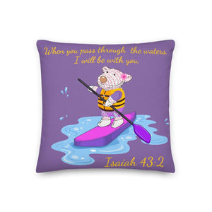 Pillow - Pillow - Joy Paddleboard - Isaiah 43:2