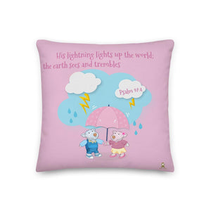 Pillow - Rose Pillow - Joy & Joseph Lightning - Psalm 97:4