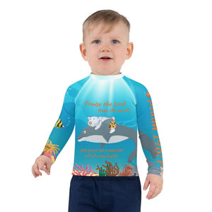 Rash Guard - Boy's Rash Guard - The Sea - Psalm 148:7