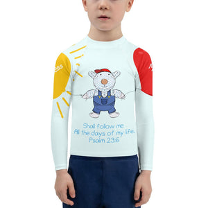 Rash Guard - Kids Rash Guard - Joseph Goodness & Mercy - Psalm 23:6