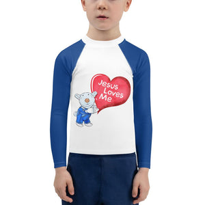 Rash Guard - Kids Rash Guard - Joseph - Jesus Loves Me