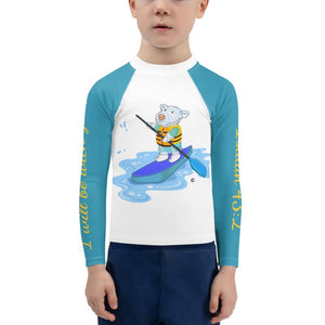 Rash Guard - Kids Rash Guard - Joseph Paddleboard 2T-7 - Isaiah 43-2