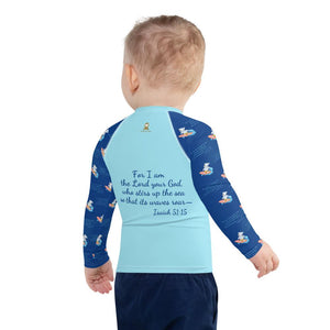 Rash Guard - Kids Rash Guard - Joseph Surfer 2T-7 - Isaiah 51:15