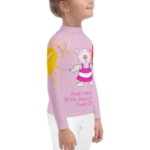 Rash Guard - Kids Rash Guard - Joy Goodness & Mercy - Psalm 23:6