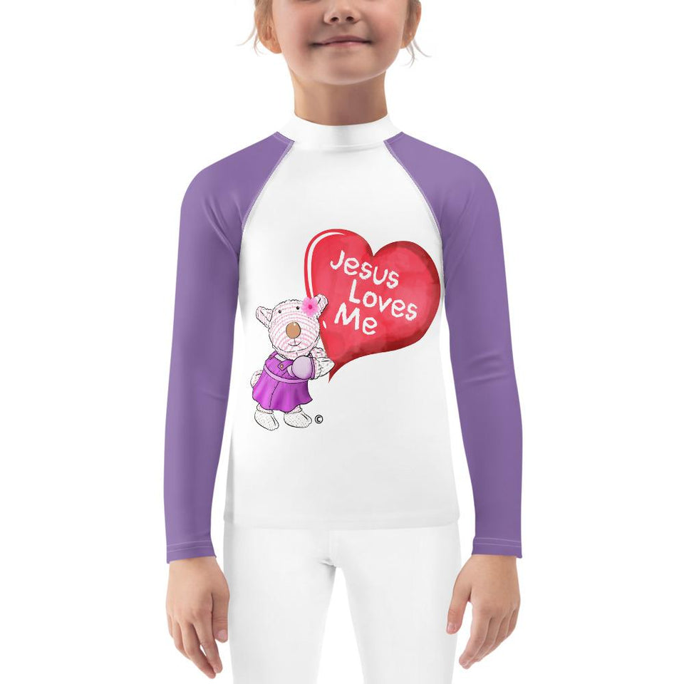 Rash Guard - Kids Rash Guard - Joy - Jesus Loves Me