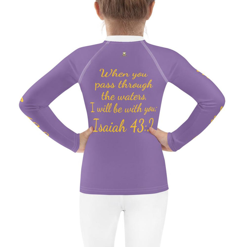 Rash Guard - Kids Rash Guard - Joy Paddleboard 2T-7 - Isaiah 43:2