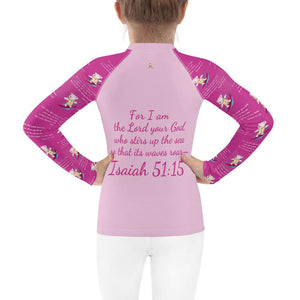 Rash Guard - Kids Rash Guard - Joy Surfer 2T-7 - Isaiah 51:15