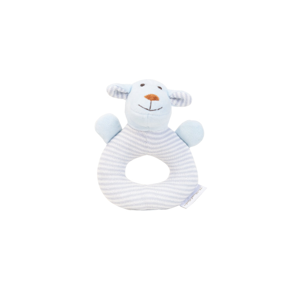 Rattle - Knitted Baby Rattle - Joseph Blue