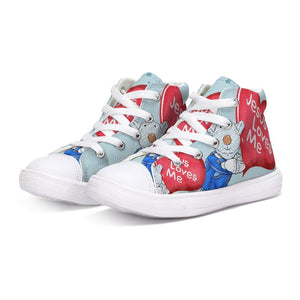 Shoes - Kids Hightop Canvas Shoe - Jesus Loves Me - Joseph