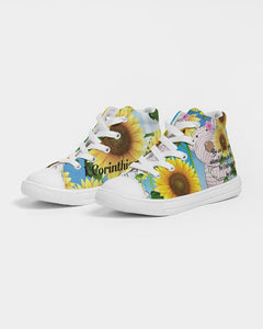 Shoes - Kids Hightop Shoe - Joy Sunflower - 1 Corinthians 16:13