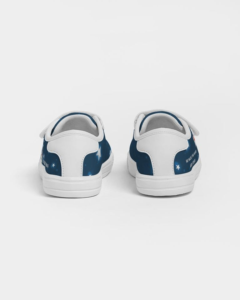 Shoes - Kids Velcro Sneaker - Joseph Astronaut - Psalm 136:9