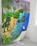 Shower Curtain - Shower Curtain - Joseph And The Dinosaurs