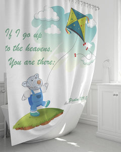 Shower Curtain - Shower Curtain - Joseph's Kite - Psalm 139:8