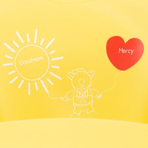 Silicone Bib - Silicone Bib  Joseph -  Goodness And Mercy - Yellow