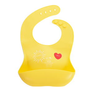 Silicone Bib - Silicone Bib - Joy Goodness And Mercy - Yellow