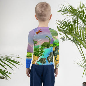 Swimming Wear - Rash Guard - Joseph & Dinosaurs - Genesis 1:1