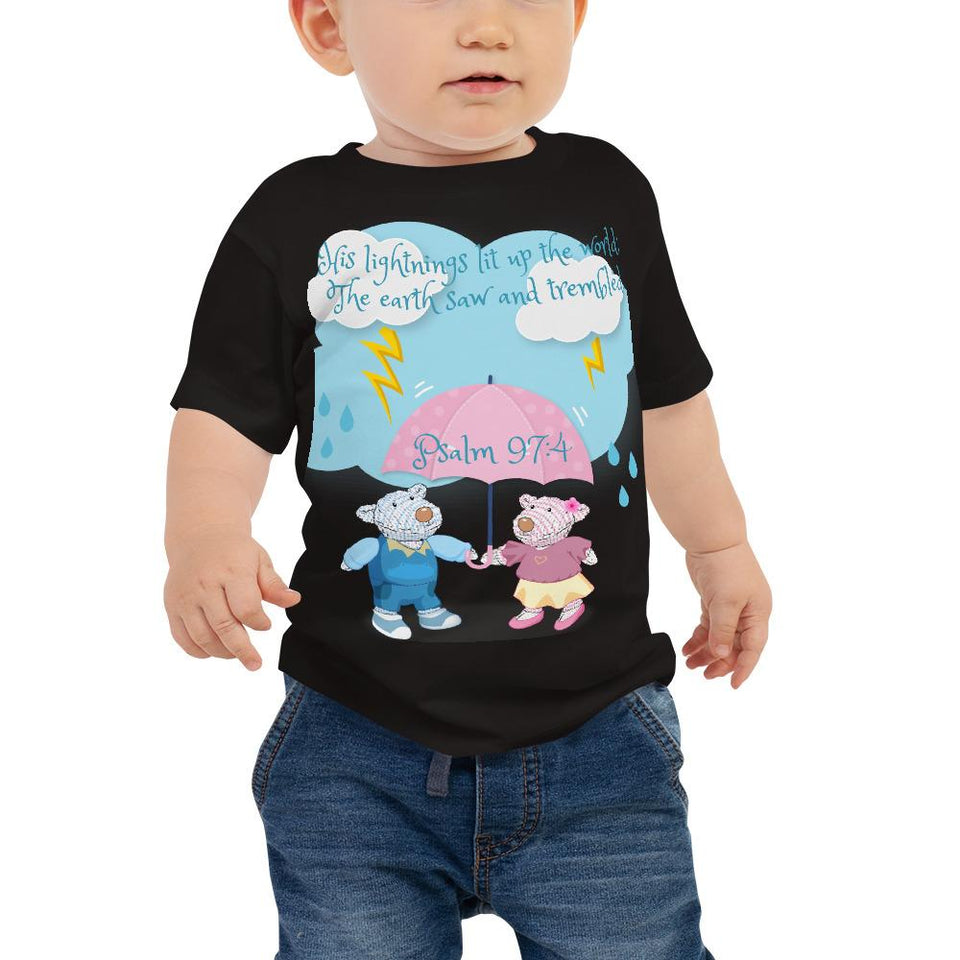 Toddler T-Shirt - Baby T-Shirt - Joy & Joseph Lightning - Psalm 97:4
