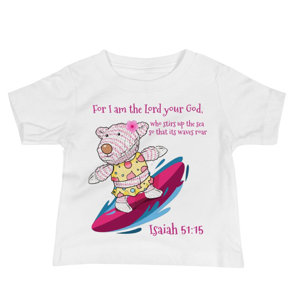 Toddler T-Shirt - BABY T-SHIRT - JOY SURFER - ISAIAH 51:15