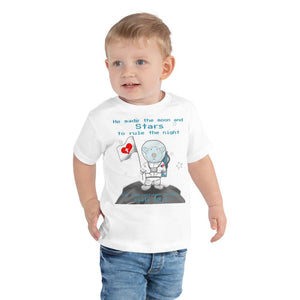 Toddler T-Shirt - Toddler T-Shirt - Joseph Astronaut - Psalm 136:9