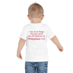 Toddler T-Shirt - Toddler T-Shirt - Joseph Firefighter - Philippians 4:13